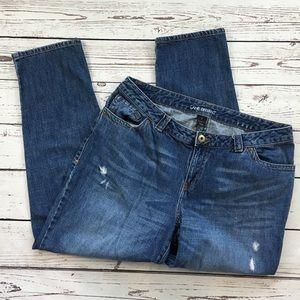Lane Bryant distressed jeans size 16